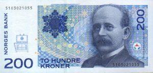 Norvegijos kronos kursas 200