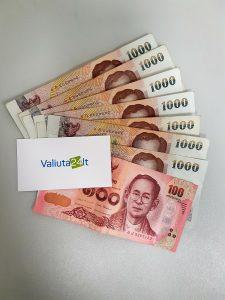 Tailando bato kursas. Tailando valiuta THB