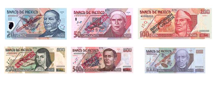 Meksikos pesas. Meksikos valiuta