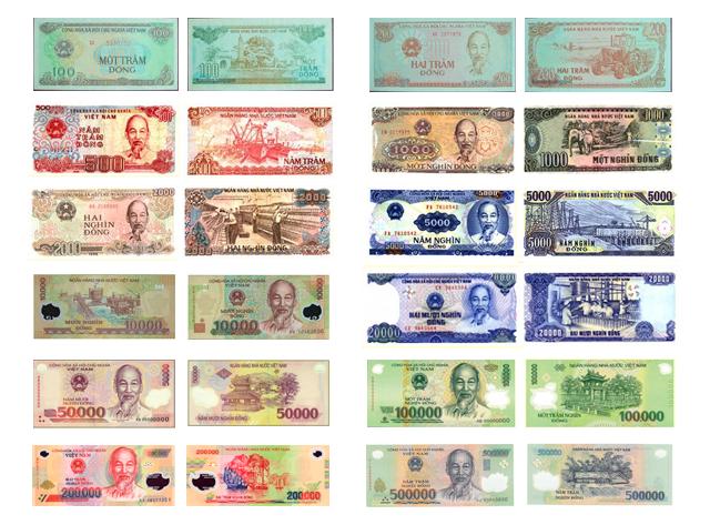 Vietnamo valiuta dongas. Vietnamo dongas kursas