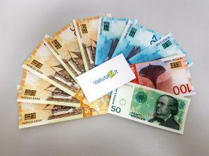 Norvegijos kronos. Kronų kursas banke