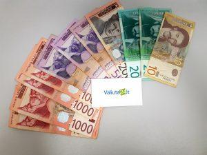 Serbijos dinaras. Serbijos dinaro kursas